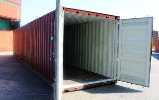 Opened Shipping Container