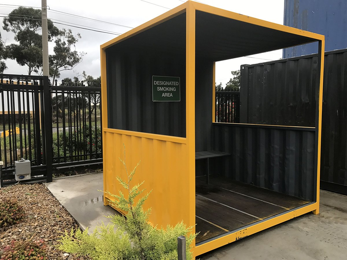 smokers' shed container