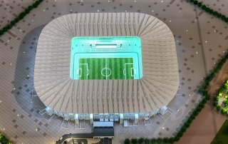 top view of Ras Abu Aboud Stadium model