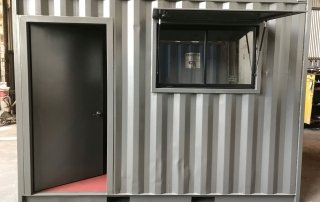 installing access door to a container