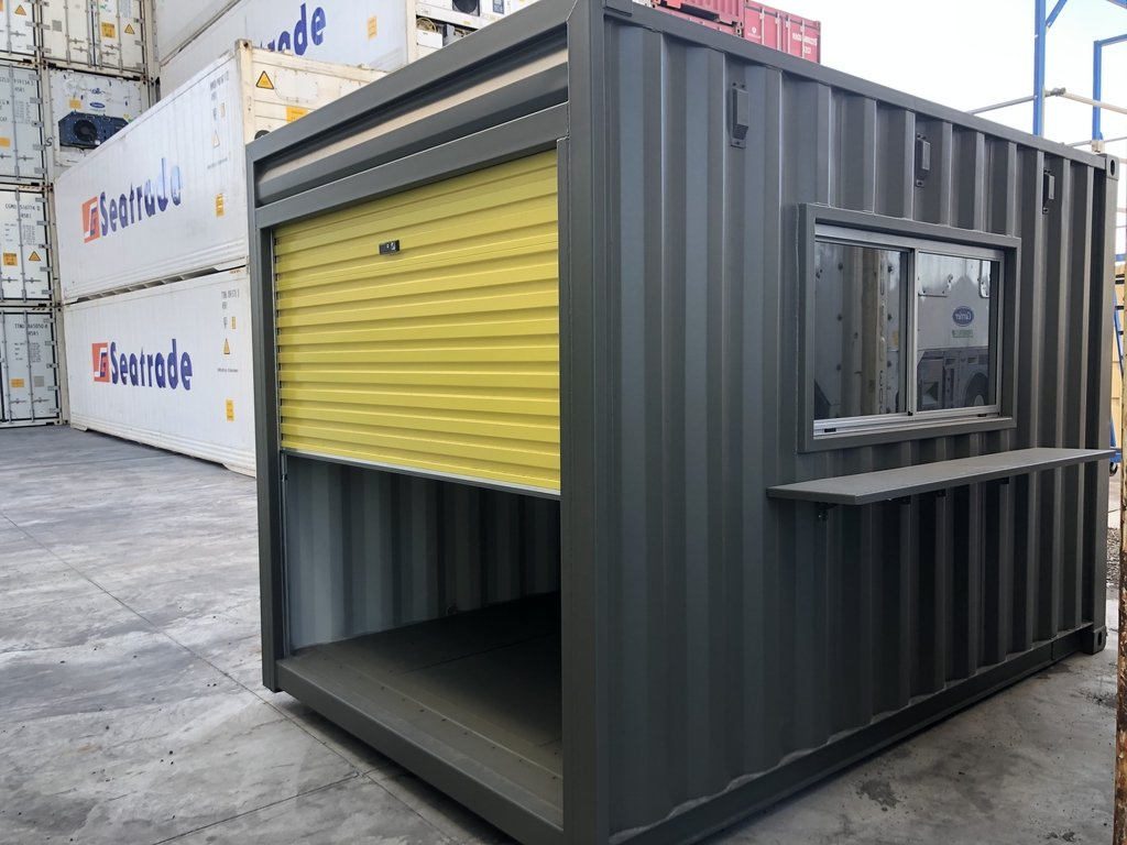 gray 10ft container