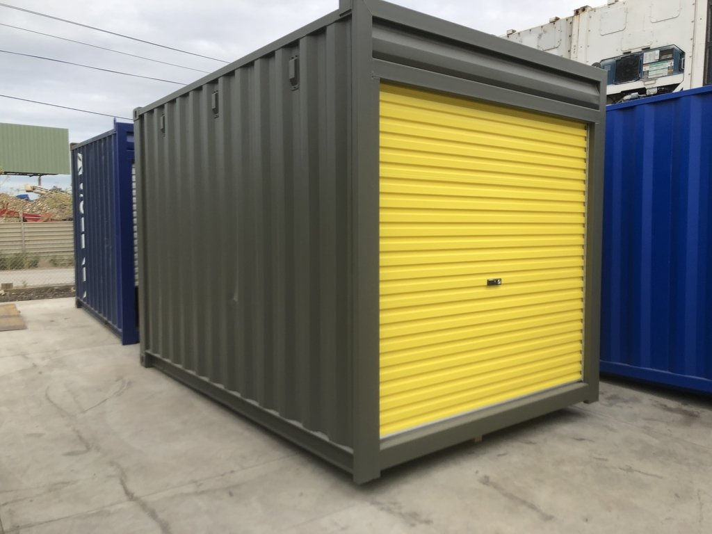 gray yellow 10ft container