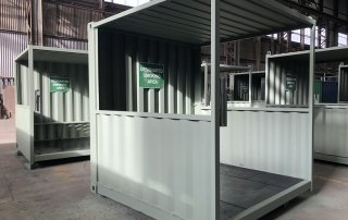 shipping container smoking shelter